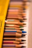 A box of crayons Stock Images