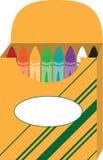 Box of Crayons Stock Photo