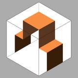 Box cube carton tray safe symbol.  Stock Photo