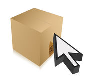Box and cursor illustration design Royalty Free Stock Photo