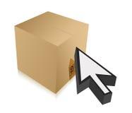 Box and cursor illustration design Royalty Free Stock Photo