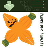 Box cut in the form Pumpkin, for candy on Halloween Royalty Free Stock Photography