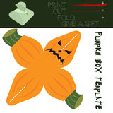 Box cut in the form Pumpkin, for candy on Halloween Stock Photography
