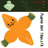 Box cut in the form Pumpkin, for candy on Halloween Stock Photo