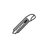 Box cutter line icon, build repair elements Stock Photography
