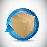 Box and cycle illustration design Stock Photography