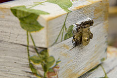 Box decorated by decoupage Royalty Free Stock Image