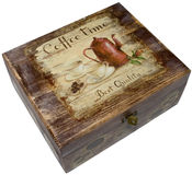 Box Decorated With Decoupage Royalty Free Stock Images