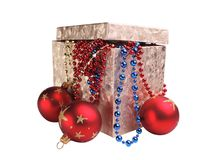 Box and decorations Royalty Free Stock Images