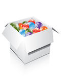 Box with decorations Royalty Free Stock Image