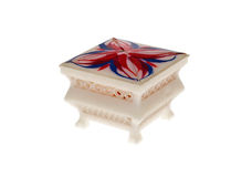 Box. Decorative jewellery box isolated with clipping path included Royalty Free Stock Photos