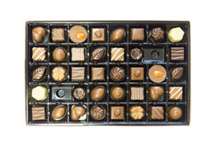 Box of delicious chocolates box Stock Photos