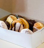Box of delicious doughnuts Stock Images