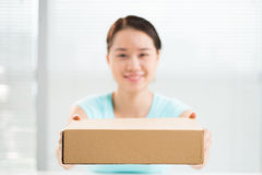 Box delivery Stock Image