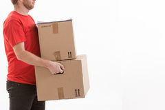 Box delivery services Royalty Free Stock Image