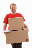 Box delivery services Royalty Free Stock Photos