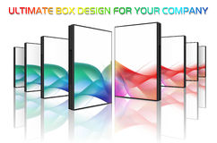 Box design collection Stock Image