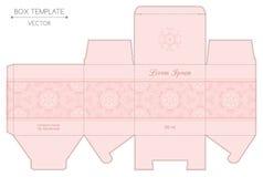 Box design, die-stamping Stock Photos