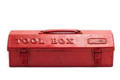 box det röda hjälpmedlet Arkivbild