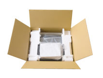 Box with  device Royalty Free Stock Photos