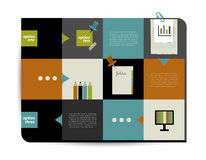 Box diagram for info graphics. Stock Photography
