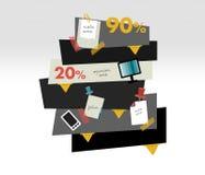 Box diagram for info graphics. Stock Photo