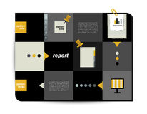 Box diagram for infographics. Web diagram template. Stock Images