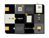 Box diagram for infographics. Web diagram template. Vector scheme Stock Images