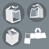 Box with Die Cut Template. Packing box For Food, Gift Or Other Products. Stock Images