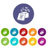 Box discounts on twenty fifth of november icon. Simple illustration of box discounts on twenty fifth of november vector icon for web Royalty Free Stock Photos