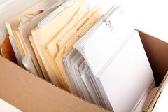 A box of document Stock Photos