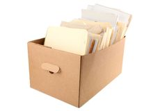 A box of document Royalty Free Stock Photo