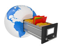 Box for documents in a planet the earth Stock Photography