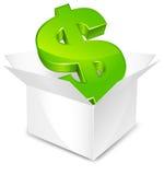 Box with dollar Stock Photos