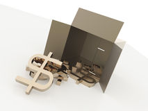 Box with dollars Stock Photography