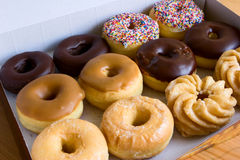 Box of donuts Stock Photography