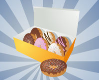 Box of donuts illustration Royalty Free Stock Photos