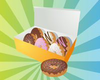 Box of donuts illustration Royalty Free Stock Image