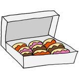 Box of doughnuts Stock Photos