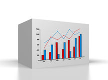 Box with drawing chart Stock Photos