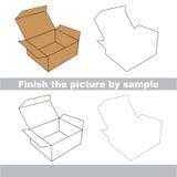 Box. Drawing worksheet. Stock Images