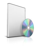 Box for DVD with a disk Stock Photography
