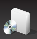 Box for DVD with a disk Royalty Free Stock Photo