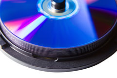 Box with dvd disks Stock Image