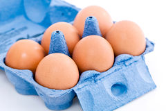 Box of eggs Royalty Free Stock Photography