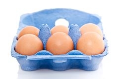 Box of eggs Stock Photos