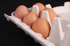 Box of eggs Royalty Free Stock Images