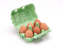 Box of eggs Stock Images