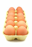 Box of eggs Royalty Free Stock Photo