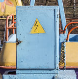 Box with electricity Danger Royalty Free Stock Photography